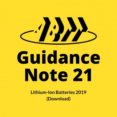 Guidance Note 21 – Lithium-Ion Batteries 2019 (Download)