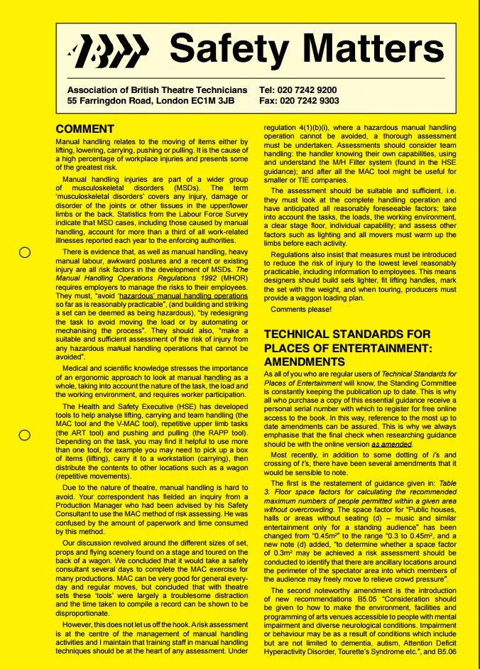 Safety Matters – Winter 2004