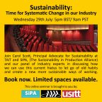 ABTT Seminar: Sustainability-Time for Systematic Change