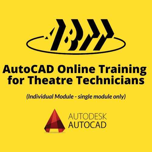 AutoCAD Online Training for Theatre Technicians (individual modules)