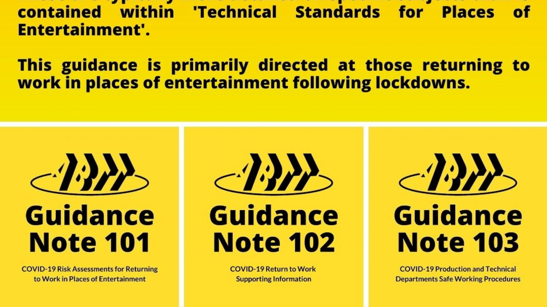 ABTT releases further Guidance Notes regarding COVID-19!