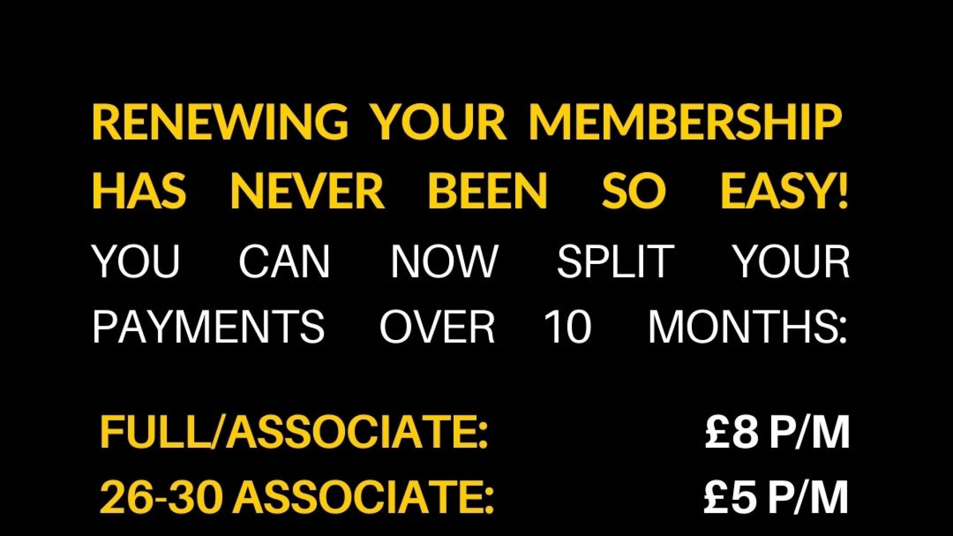 ABTT Membership Renewals Due