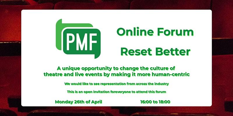 PMF Online Forum – Reset Better