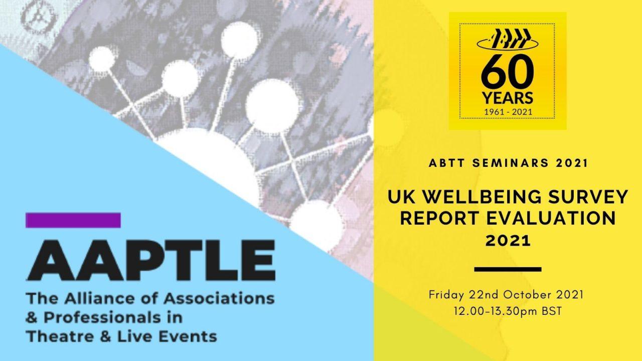 ABTT Seminar: UK Well-being Survey Report – Evaluation 2021